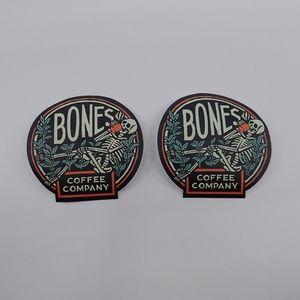 Bones Coffee Company Stickers - New